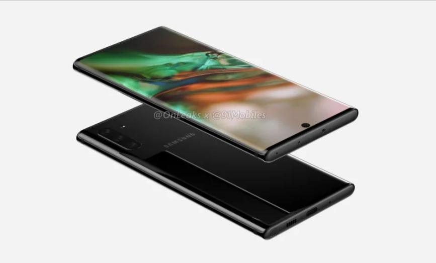 Samsung Galaxy Note 10 Revealed In Leaked Renders