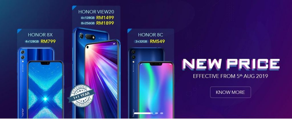HONOR Announces Massive Price Cut for View 20, 8X and 8C Smartphones